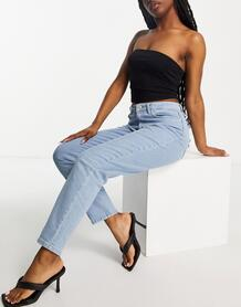 Голубые джинсы до щиколотки -Голубой NA-KD 11840494