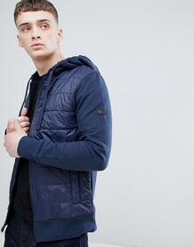 Темно-синяя трикотажная куртка с капюшоном Baffle-Темно-синий Barbour International 7148037
