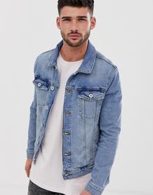 Синяя джинсовая куртка -Синий River Island 8104536