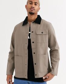 Бежевая куртка -Черный цвет VANS 8809174