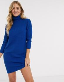 Синее платье-водолазка -Синий Brave Soul 9555980