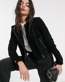 Черная куртка из натуральной замши -Черный цвет Vero Moda 9720898