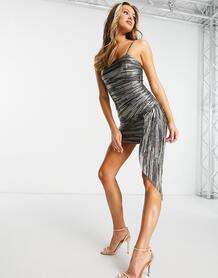 Облегающее платье комбинированного цвета металлик -Многоцветный Tfnc 11268488