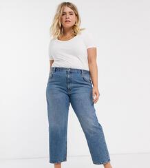 Прямые джинсы с классической талией ASOS DESIGN Curve-Синий Asos Curve 8884293