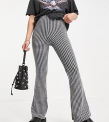Расклешенные брюки в клетку Petite-Многоцветный TOPSHOP 12055819