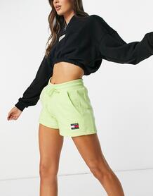 Лаймово-зеленые трикотажные шорты с логотипом -Зеленый цвет TOMMY JEANS 11315962