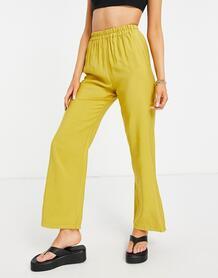 Свободные джоггеры зеленовато-желтого цвета -Желтый ASOS DESIGN 10895535