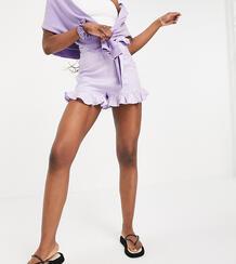 Сиреневые шорты с поясом ASOS DESIGN Tall-Фиолетовый цвет Asos Tall 11750952