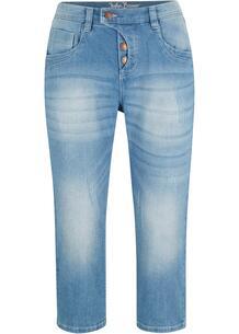 Капри джинсовые стрейч bonprix 267185373