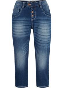 Капри джинсовые стрейч bonprix 267185378