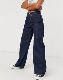 Темно-синие широкие джинсы-Синий Only 10117202