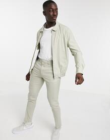 Светло-бежевая строгая куртка-харрингтон от комплекта -Бежевый ASOS DESIGN 10708869