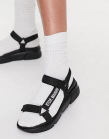 Черные сандалии в спортивном стиле с логотипом Hessel-Черный цвет Steve Madden 11562825