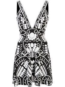 платье мини Jerza с глубоким декольте ALEXIS 149972258883