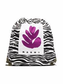 рюкзак с зебровым принтом Marni Kids 16706348636363633263