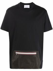 футболка с карманом на молнии LOW BRAND 1679057649
