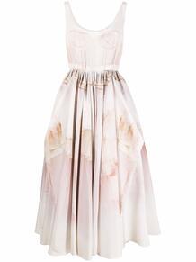 платье c драпировкой Alexander McQueen 167419575250