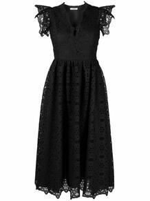 платье миди с кружевной вышивкой VIVETTA 167323635252