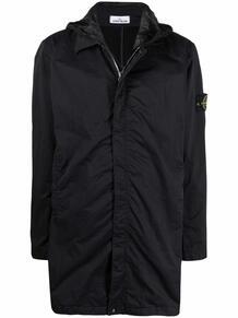 однобортное пальто с нашивкой-логотипом Stone Island 167119198876
