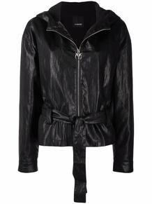куртка из искусственной кожи с поясом Pinko 167760635248