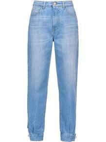 джинсы с манжетами и искусственным жемчугом Pinko 153661805054