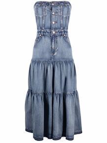 джинсовое платье без бретелей RED VALENTINO 167273655254