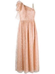 платье на одно плечо с цветочным узором RED VALENTINO 152336315248