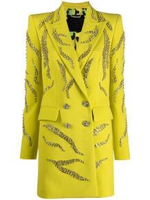 декорированное двубортное платье-пиджак PHILIPP PLEIN 161906848883