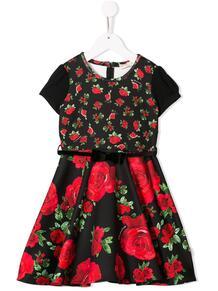 расклешенное платье с цветочным принтом Monnalisa 142272384948