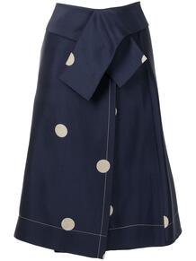 юбка миди с драпировкой и узором в горох 3.1 PHILLIP LIM 1629599350
