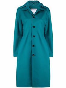 приталенное пальто со съемным капюшоном Bottega Veneta 167368295156
