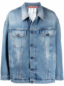 джинсовая куртка с приспущенными плечами ACNE STUDIOS 16646497888883478883