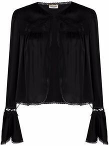 блузка с кружевом Yves Saint Laurent 166980505154