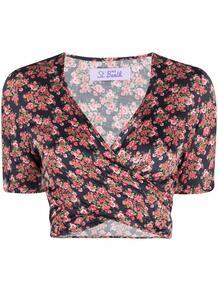 полосатая блузка с V-образным вырезом MC2 SAINT BARTH 1668644676
