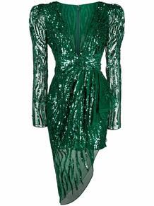 платье с драпировкой и пайетками ZUHAIR MURAD 166869575156