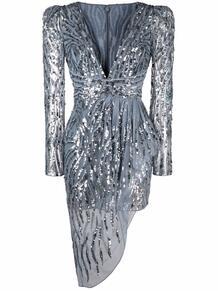 платье с драпировкой и пайетками ZUHAIR MURAD 166877835156