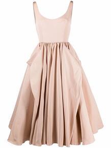 платье с драпировкой Alexander McQueen 166892685250