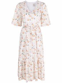платье миди с оборками и цветочным принтом L'Autre Chose 164043255248