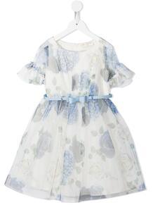 платье с короткими рукавами и цветочным принтом Monnalisa 163809024948
