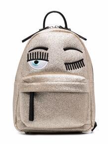 рюкзак с блестками и логотипом Flirting Chiara Ferragni Kids 16703557636363633263
