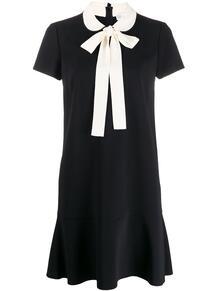 платье-трапеция с бантом RED VALENTINO 147226245252