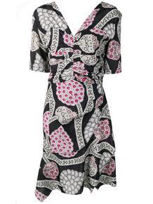 платье с драпировкой и цветочным принтом Isabel Marant 139174765152