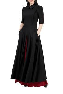 Платье комбинированное, отрезное по линии талии GREYCAT 4071474