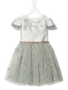 платье с бантом и вставкой из тюля Monnalisa 167123114948