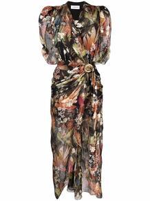 платье со сборками и цветочным принтом Lanvin 167162745154