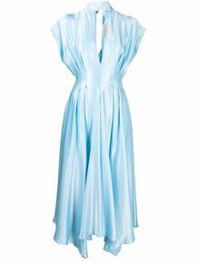 атласное платье с драпировкой Materiel 1670578077