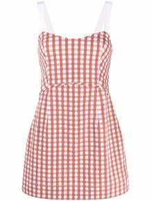 платье в клетку гингем Three Graces 166652124950