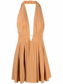 платье мини с вырезом халтер и открытой спиной AZZARO 167671435156