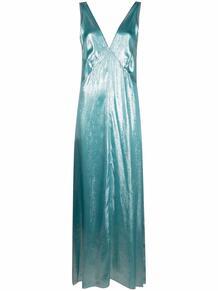 платье с эффектом металлик и V-образным вырезом на спине Forte Forte 166597077373