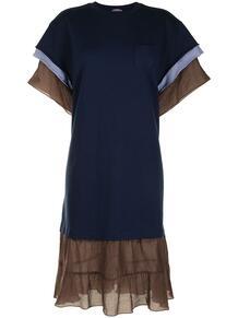 платье-футболка с тюлем UNDERCOVER 1665159050